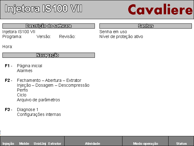 Software para Injetora IS100 VII
