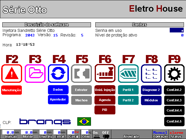 Software para Injetora Sandretto Serie Otto Sef90