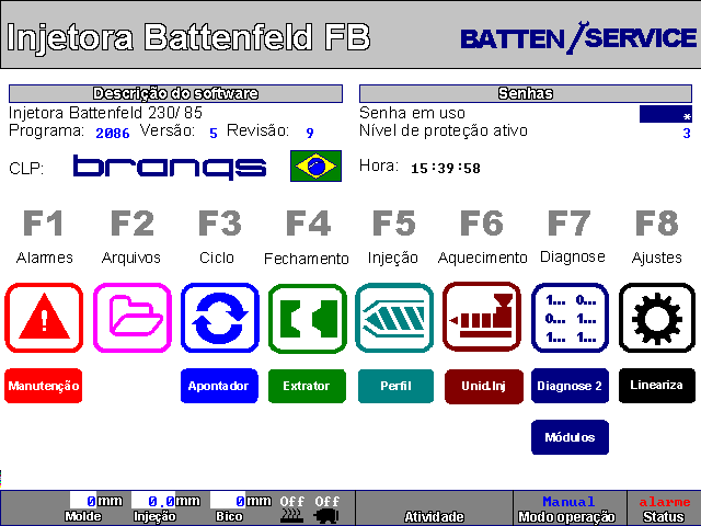Software para Injetora Battenfeld FB 230/85T